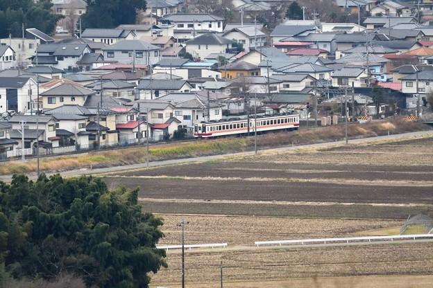 新鹿沼付近を行く東武6050系