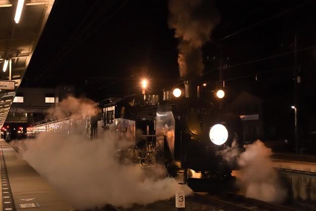 SL大樹6号賀正HM付き鬼怒川温泉駅発車