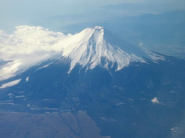 機窓の富士山