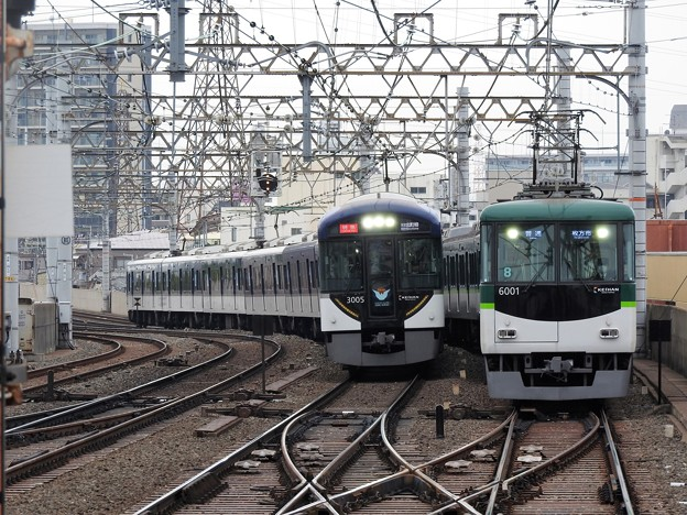京阪3000系特急&6000系普通