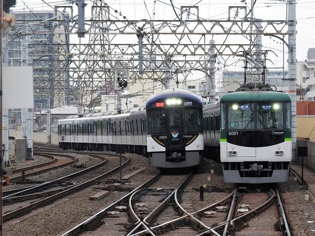Photos: 京阪3000系特急&6000系普通
