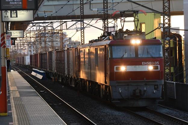 Photos: EH500-35号機牽引8063レ夕刻の西浦和通過