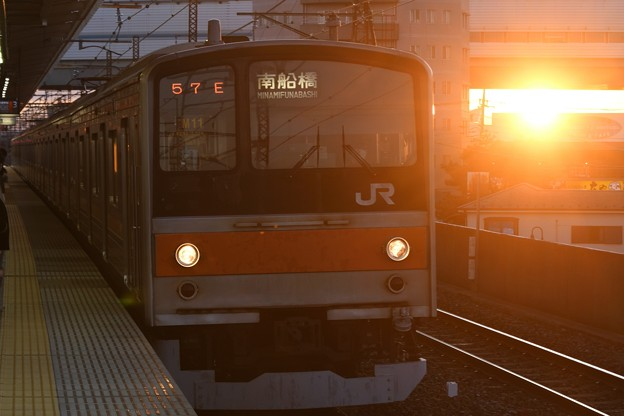 Photos: 夕陽と武蔵野線205系