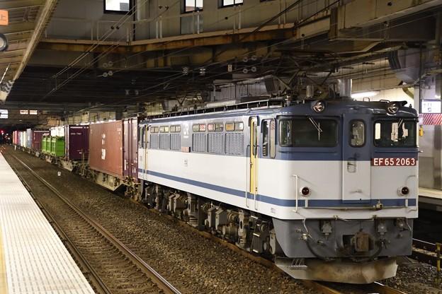 EF65 2063牽引4073レ小山11番待避