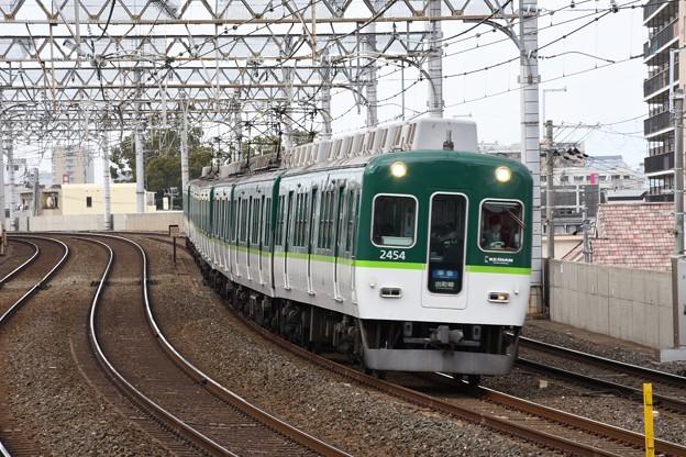 京阪2400系準急出町柳行き