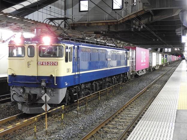 Photos: EF65 2074牽引4073レ小山11番待避