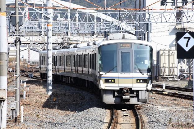 奈良線221系京都8番到着