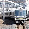 Photos: 奈良線221系京都8番到着