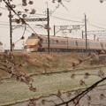 Photos: 桜・なごり雪・日光詣スペーシア