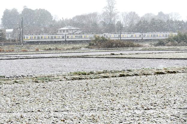 雪景色の東武宇都宮線