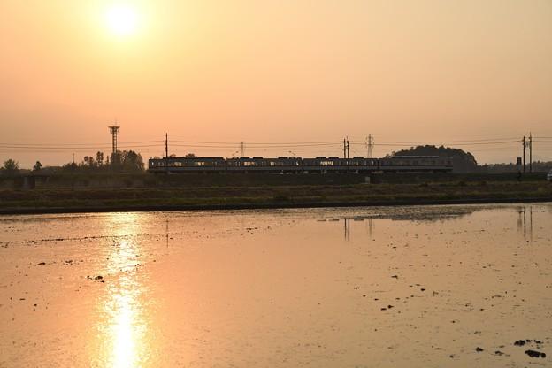 夕陽の東武宇都宮線(1)