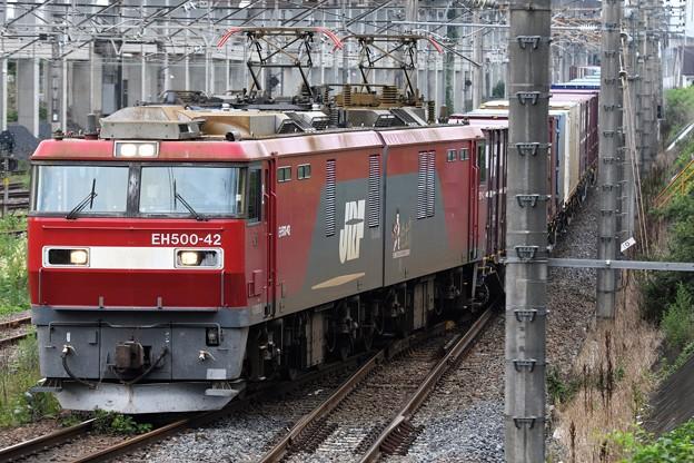 金太郎42号機牽引3050レ宇都宮貨物(タ)入線