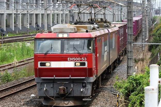 Photos: 金太郎53号機牽引上り貨物列番不明