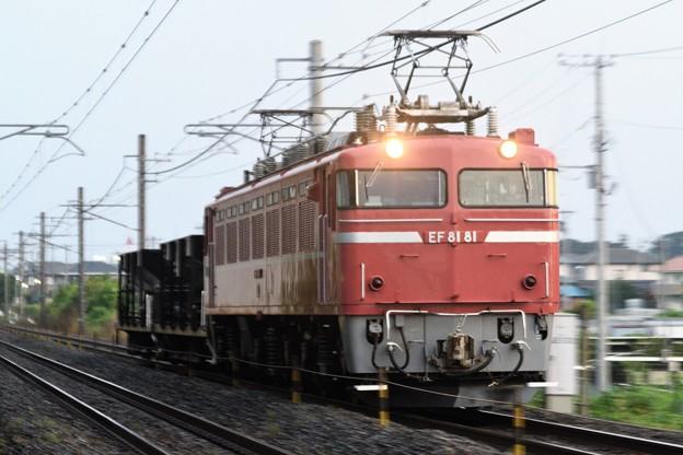 Photos: EF81 81号機牽引宇配8937レ通過