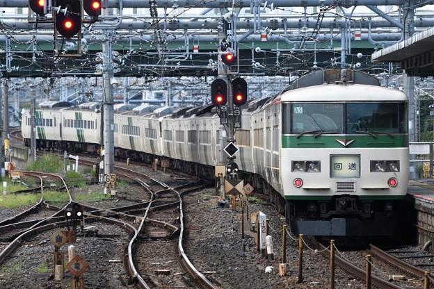 185系C4+A3編成回送大宮9番発車
