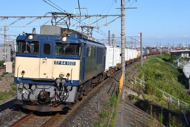 EF64 1021牽引1094レ武蔵野線吉川通過