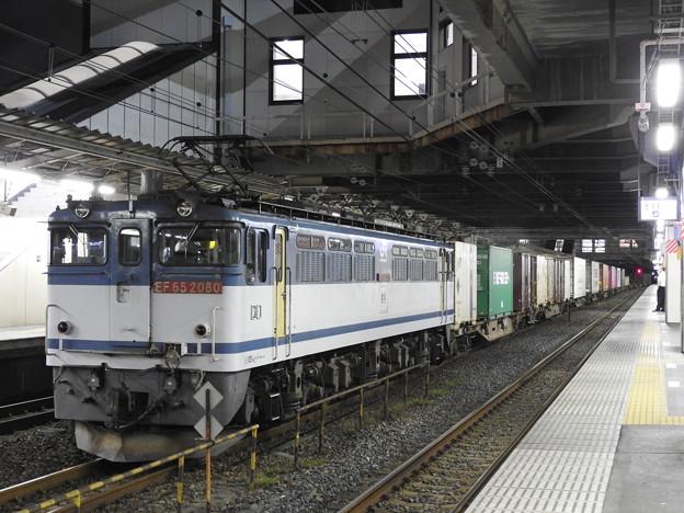 Photos: EF65 2080牽引4073レ小山11番待避