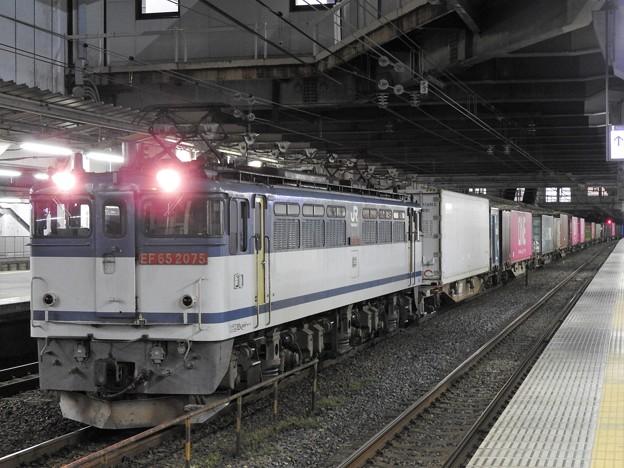 EF65 2075牽引4073レ小山11番待避