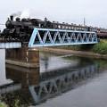 Photos: 五行川を渡るSLもおか号