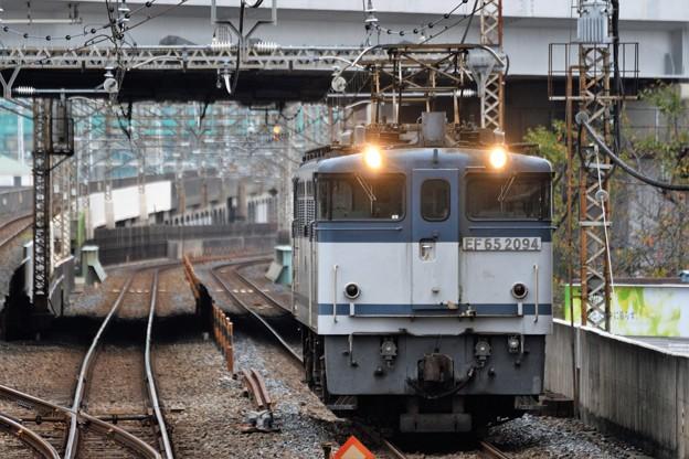 EF65 2094 白プレート単機8876レ