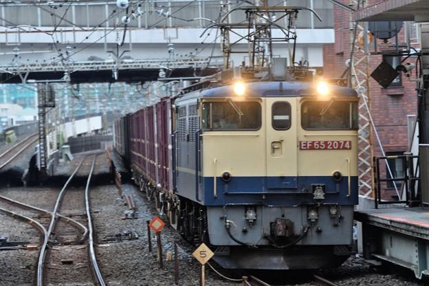 EF65 2074号機牽引77レ