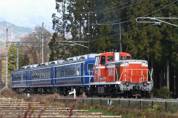 DE10 1099号機牽引DL大樹2号(HMなし)