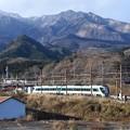 Photos: 女峰山を背に東武日光を発つリバティけごん号
