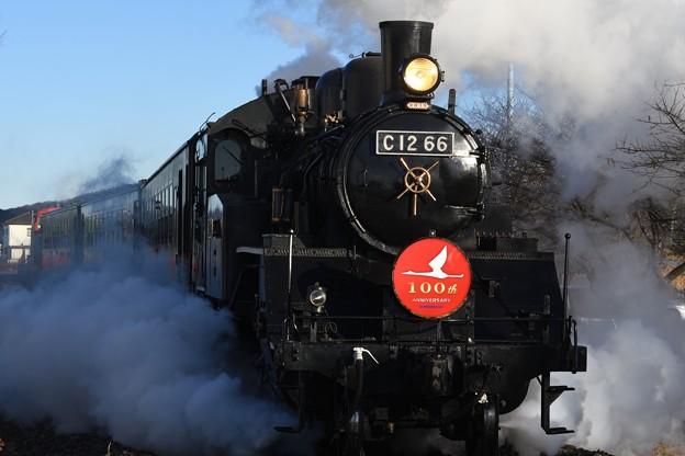 SLもおか号・真岡線全線開通100周年記念HM付き