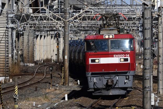 Photos: 金太郎14号機牽引石油返空1070レ