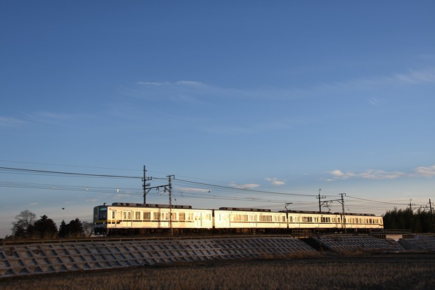 Photos: 夕陽に輝く東武宇都宮線