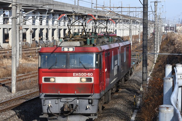 Photos: 年末の金太郎貨物空コキ牽引3086レ