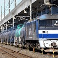 Photos: 桃太郎119号機牽引石油返空8586レ