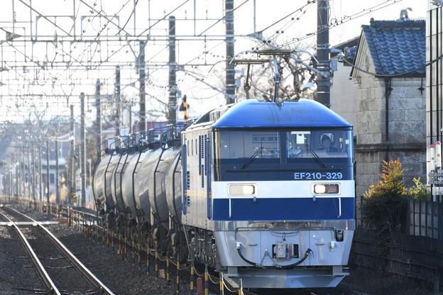 EF210 329号機牽引代走牽引8685レ