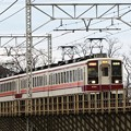 Photos: 思川橋梁を渡る前パン東武6050型