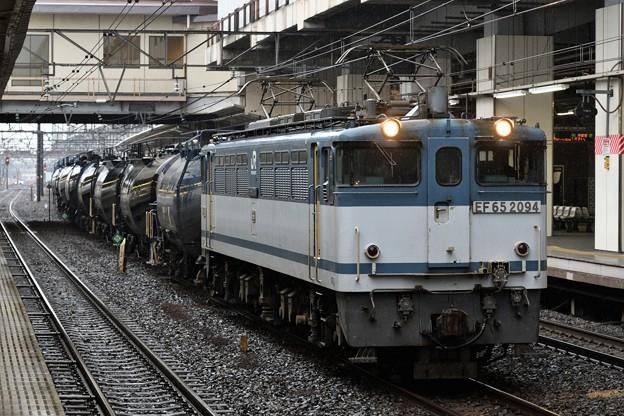 EF65 2094牽引8685レ小雨の小山11番入線
