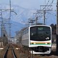 那須連山を背に行く宇都宮線