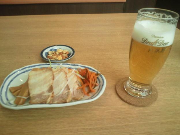 生ビール&おつまみ3点セット@十割そば会