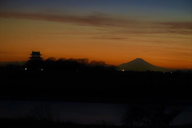 富士山と関宿城
