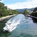 Photos: 2018.5.20(京都/廻旋橋から見た天橋立と船)