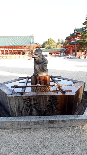 2018.11.11(京都/左京区/平安神宮/蒼龍の手水台)