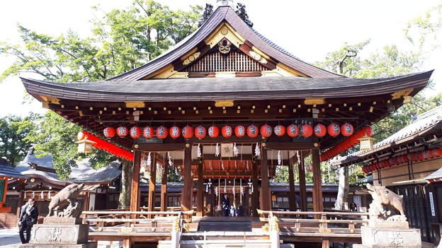 2018.11.11(京都/上京区/護王神社/拝殿 表側)