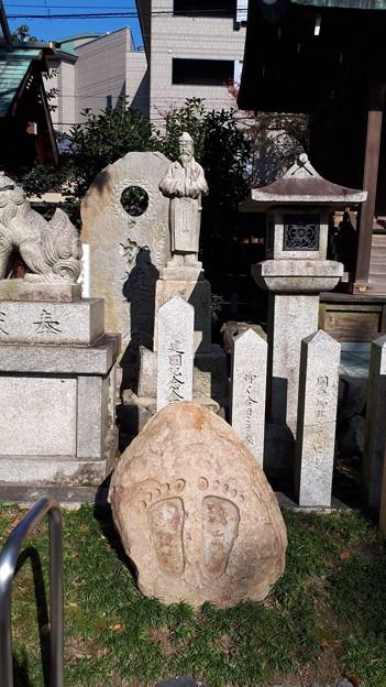2018.11.11(京都/上京区/護王神社/和気清麻呂公像と仏足石)