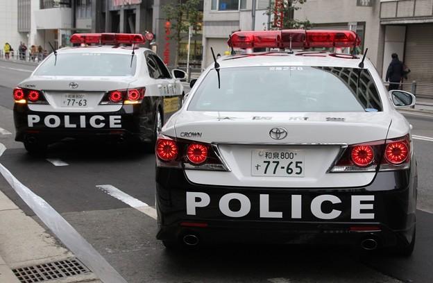 大阪府警 交通機動隊 パトロールカー(後部)