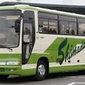 写真: 島田観光バス 中型観光バス