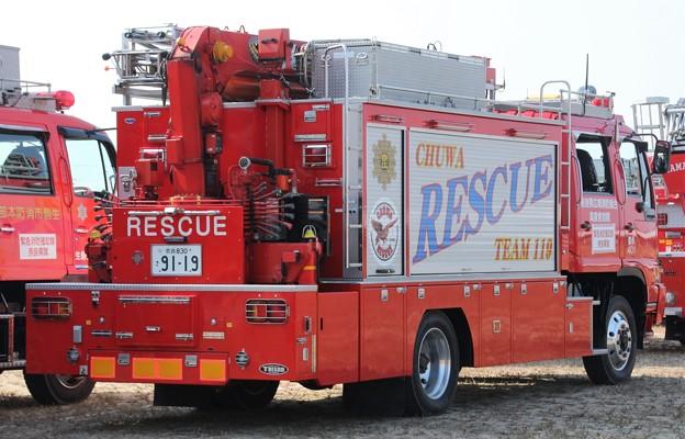奈良県広域消防組合 lll型救助工作車(後部)
