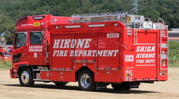 滋賀県彦根市消防本部 化学車(オールシャッター仕様、後部)