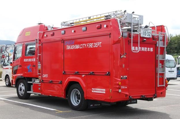 Photos: 滋賀県高島市消防本部 水槽付ポンプ車             (オールシャッター仕様、CAFS付、後部)
