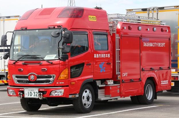 滋賀県高島市消防本部 水槽付ポンプ車            (オールシャッター仕様、CAFS付)
