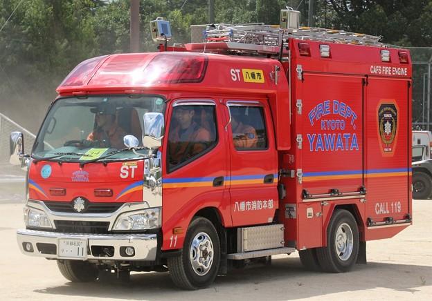 京都府八幡市消防本部 CD-Iポンプ車            (オールシャッター仕様、CAFS付)