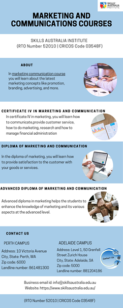 Best education institute to study marketing and communications courses Adelaide